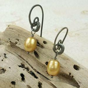 Silpada Sterling Freshwater Pearl Dangle Earrings